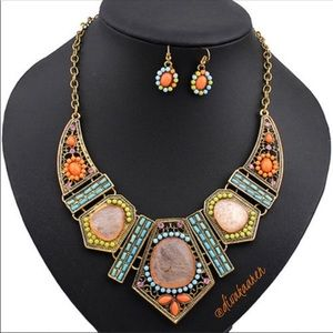 Jewelry - Gorgeous African Beaded Statement Necklace